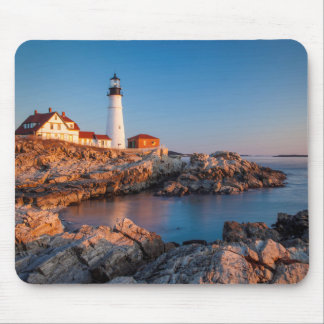 Winters dawn at Portland Head Lighthouse Mouse Mat