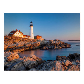 Winters dawn at Portland Head Lighthouse Postcard