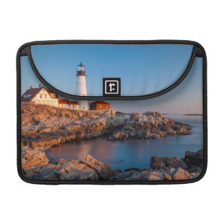 Winters dawn at Portland Head Lighthouse Sleeve For MacBooks