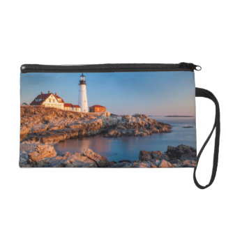 Winters dawn at Portland Head Lighthouse Wristlet
