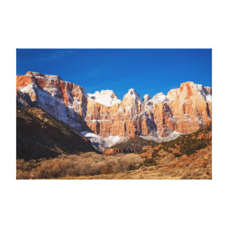 Winter's First Touch Canvas Print