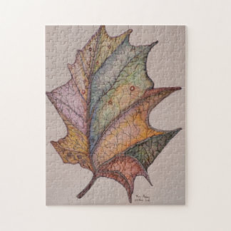 Winters Leaf Jigsaw Puzzle