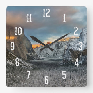 Winter's Mark Square Wall Clock