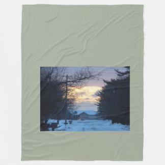 winters night fleece blanket
