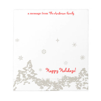 Winters Night Personalized Notepad