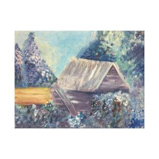 Winter's passion canvas print
