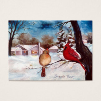 Winters Serenity Cardinal Art Card