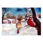 Winters Serenity Cardinal Art Card Pack Of Chubby Business Cards