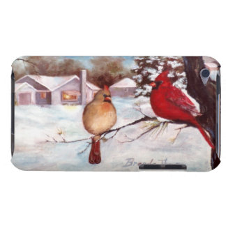 Winter's Serenity Cardinal iPod Touch Cover