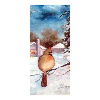 Winters Serenity Cardinal Rack Card