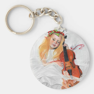 Winter's Song Elven princess keychain