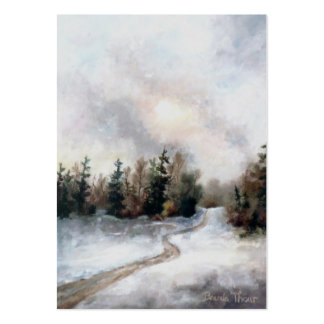 Winter's Sunset Art Card Business Cards