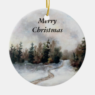 Winters Sunset Christmas Ornament