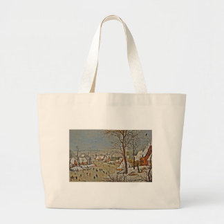 Winterscape  on a Pond with Birds Tote Bag