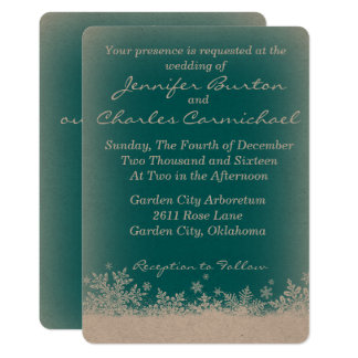 Winterscape Wedding Invitation