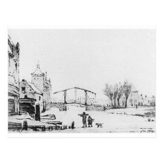 Winterscene at Spuipoort by Jacob van Strij Postcard