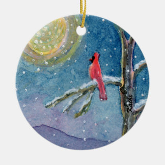 Winterscene Cardinals Christmas Ornament