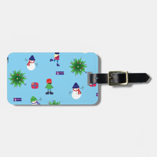 Wintertime Ice Rink Luggage Tag