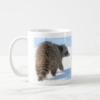 Wintertime Racoon Excursion Coffee Mug