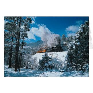 Wintertime Steam Greeting Card