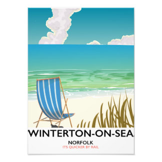Winterton-on-Sea Norfolk Beach travel poster