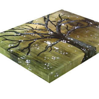Wintertree 1 stretched canvas prints