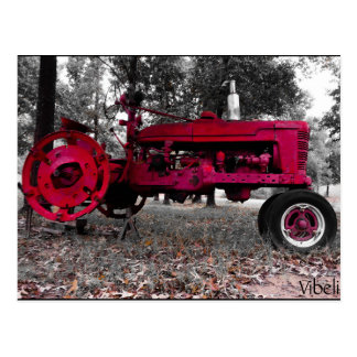 Wintery Antique Tractor Post Card by Vibeli