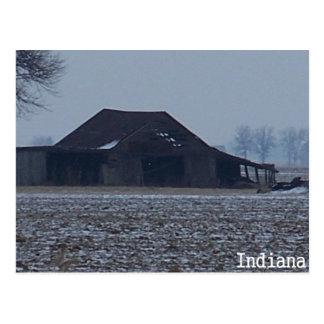 Wintery Barn Postcard