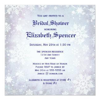 Wintery Blue Bridal Shower Invitation