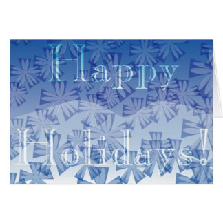 Wintery Blue Holidays 01 Greeting Card