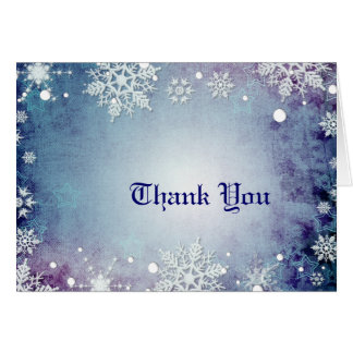 Wintery Blue Thank You Card