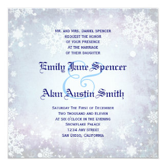 Wintery Blue Wedding Invitation