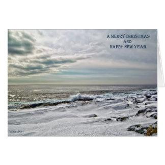 Wintery Coastline Christmas Card