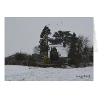 Wintery Countryside Greeting Card