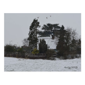 Wintery Countryside Postcard