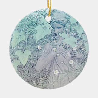 Wintery Goddess Christmas Ornament