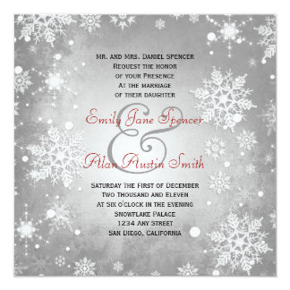 Wintery Grey Wedding Invitation