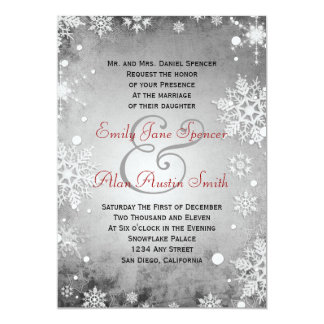 Wintery Grey Wedding Invitation