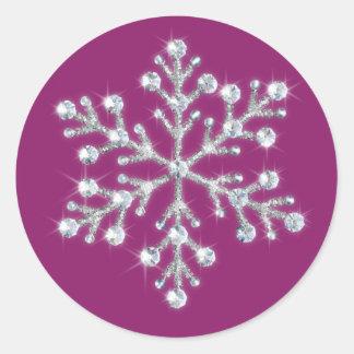 Wintery Magenta Sticker