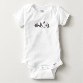 Wintery Penguins Baby Romper Baby Onesie