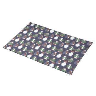 Wintery Penguins Placemat, Purple Placemat