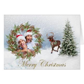 Wintery Photo Christmas Greeting Card