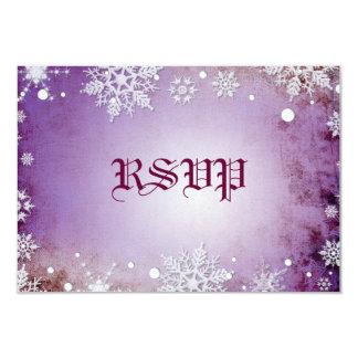 Wintery Purple  RSVP Card 9 Cm X 13 Cm Invitation Card