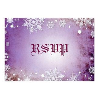 Wintery Purple  RSVP Card Personalized Invitation