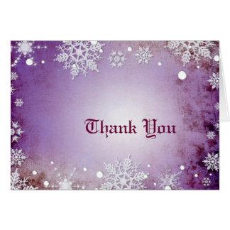 Wintery Purple Thank You Card