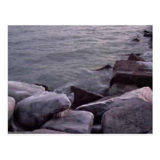 Wintery Rocks Postcard