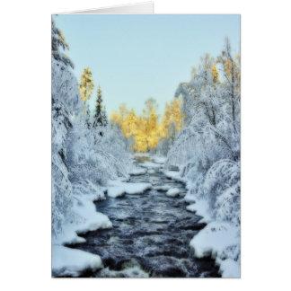 Wintery Stream Greeting Cards
