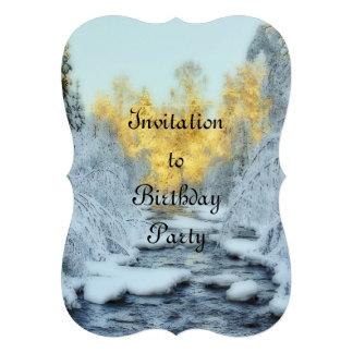 Wintery Stream Custom Invites