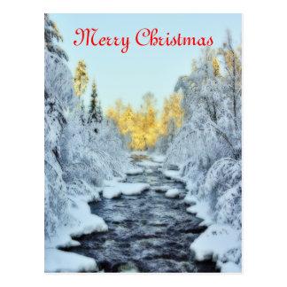 Wintery Stream Postcard
