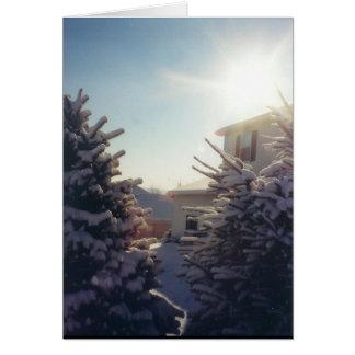 Wintery Sun - notecards Note Card